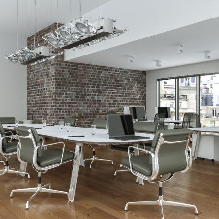 Ein glänzendes Büro